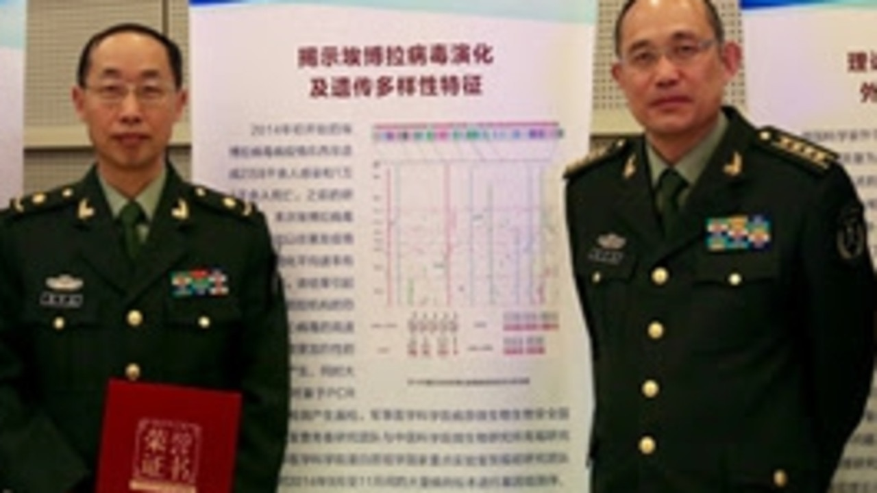 Left: Yi-Gang Tong and Wu-Chan Cao, of China's State Key Laboratory of Pathogen and Biosecurity.