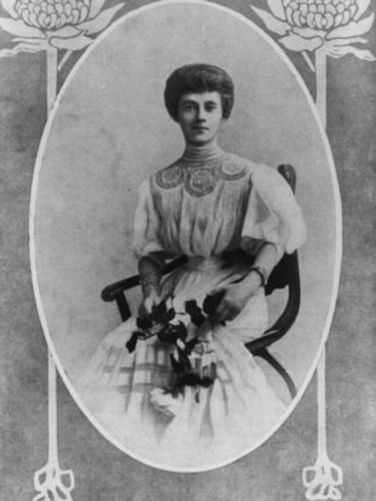 A portrait of Marian Ellis Rowan, as printed in The Lone Hand, October 1, 1910, p. 461. Picture: State Library of Queensland.