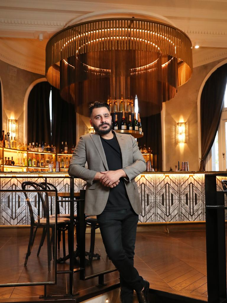 The Cat Meow bar owner Henri Azzi, who only opened up in November but has now shut until restrictions are over. Picture: Richard Dobson