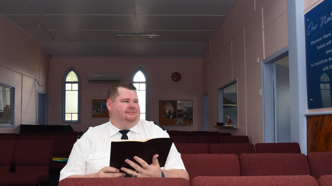 ONLINE APPEAL: Lockyer Valley Salvation Army group auxiliary lieutenant Rhys Wilson. PHOTO: Ali Kuchel