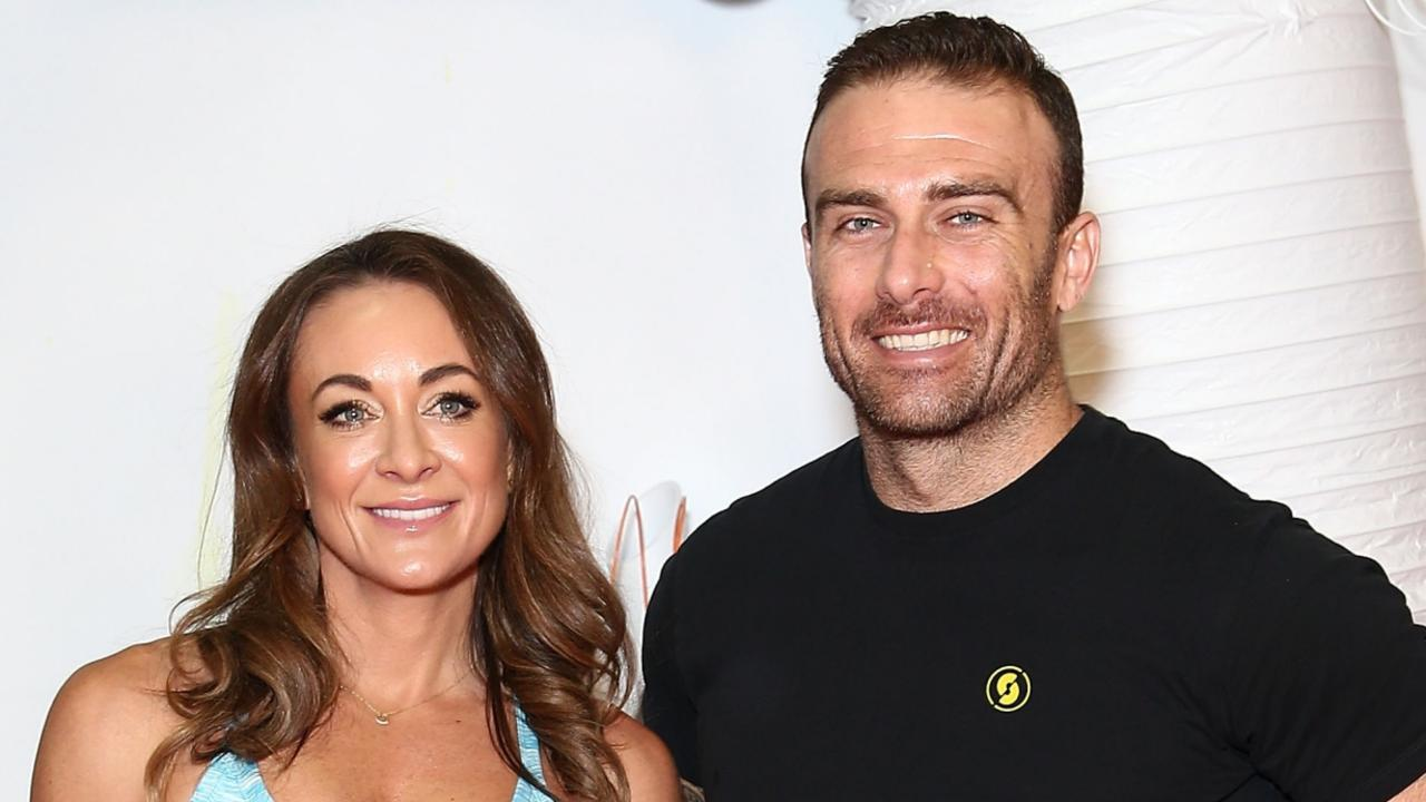 Happier times... 'Commando' Steve Willis and Michelle Bridges split last year. Picture: Getty Images