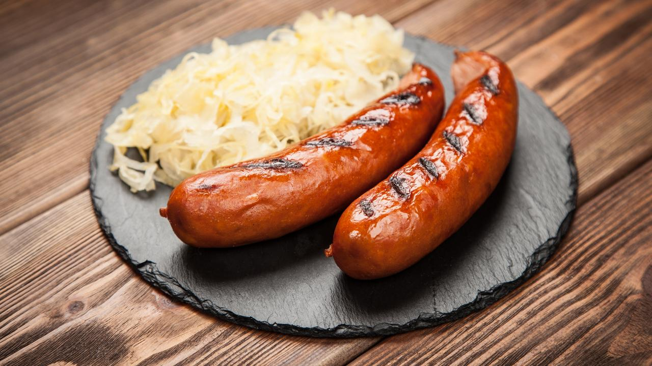 Never would we have picked such an interest in sauerkraut during lockdown. Pictured here with German bratwurst.