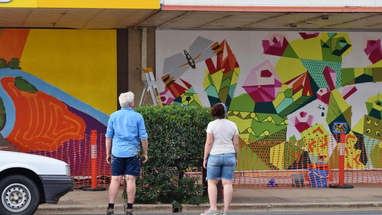 Regina Hyland and Graeme McCullough working on the Chinchilla Placemaking Project.
