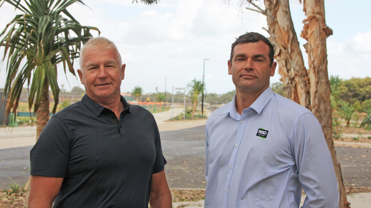 IN ADMINISTRATION: RGD Group director Ron Grabbe, left, and project manager Klint Grabbe. The company has been placed in voluntary administration.