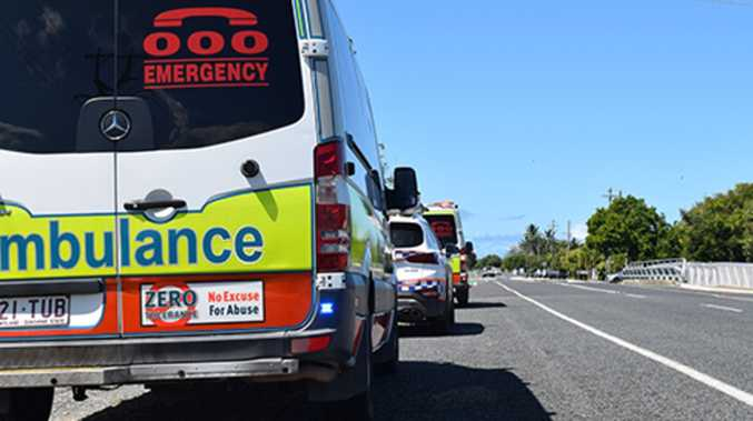 Eight assessed in two-car smash on Bruce Hwy off-ramp