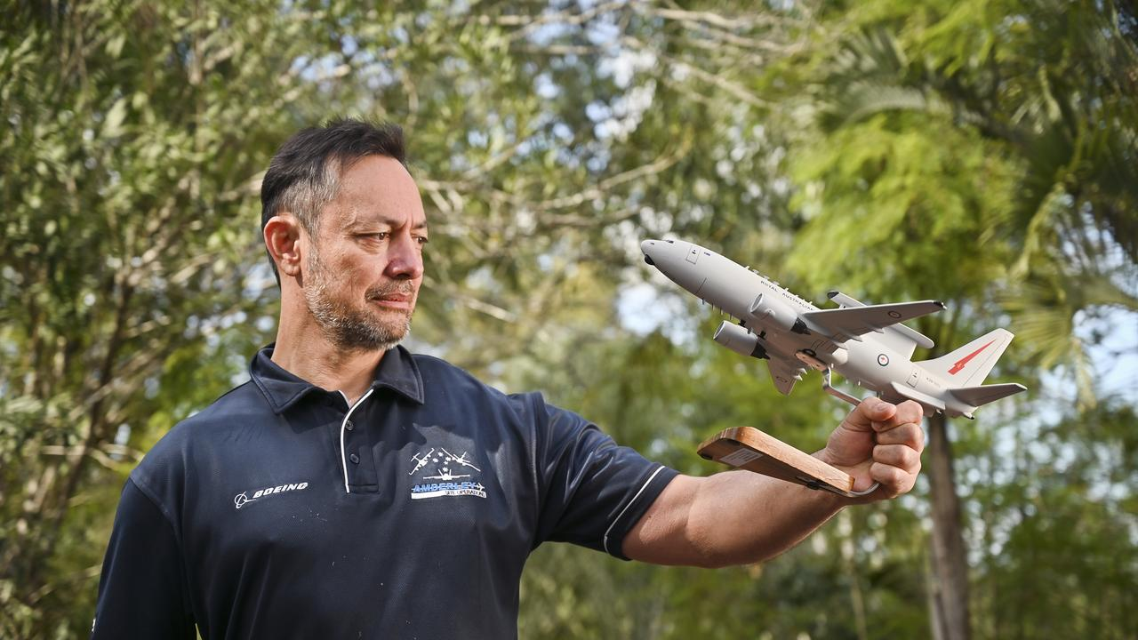 Glenn Watson was part of the project which converted the commercial 737-NG to the E-74 Wedgetail in 2005. Based at RAAF Base Amberley, he still works on the aircraft. Picture: Cordell Richardson