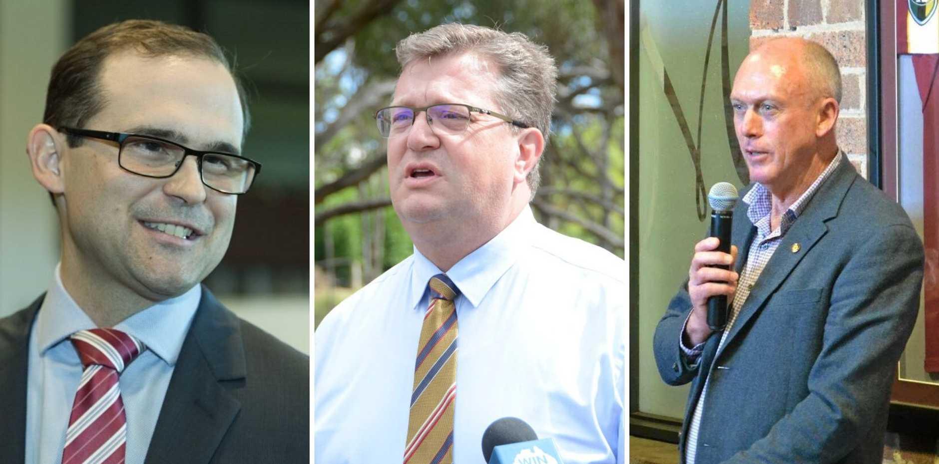 David Janetzki, Trevor Watts and Pat Weir.