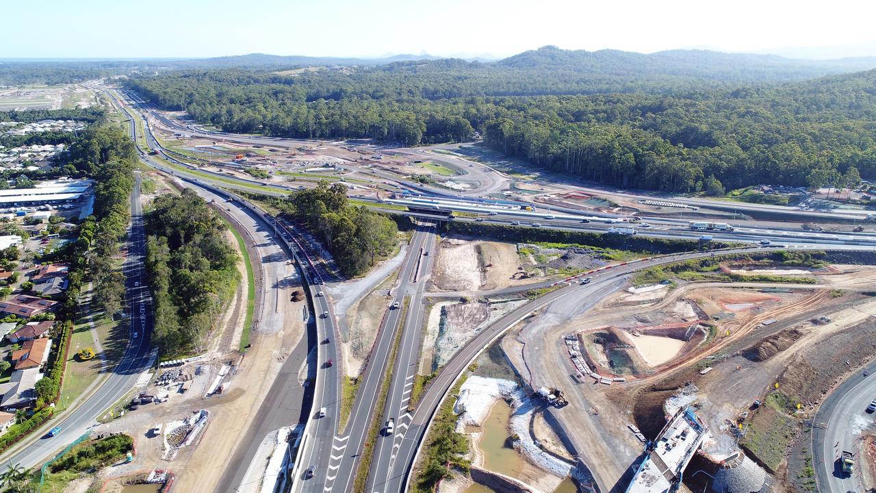 Bruce Highway upgrade at the Sunshine Motorway on-ramp. Photo: Patrick Woods