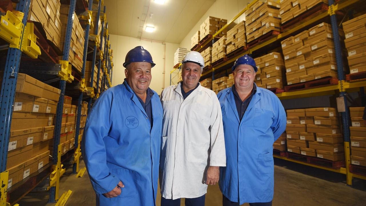 Michael, Terry and Tony Nolan, owners of Nolan Meats in Gympie.