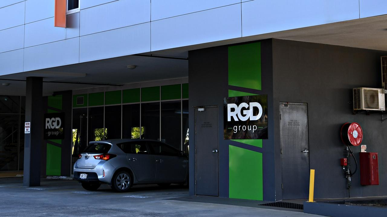 QUIET: RGD Group offices at Lake Kawana, after the company was placed in voluntary administration.