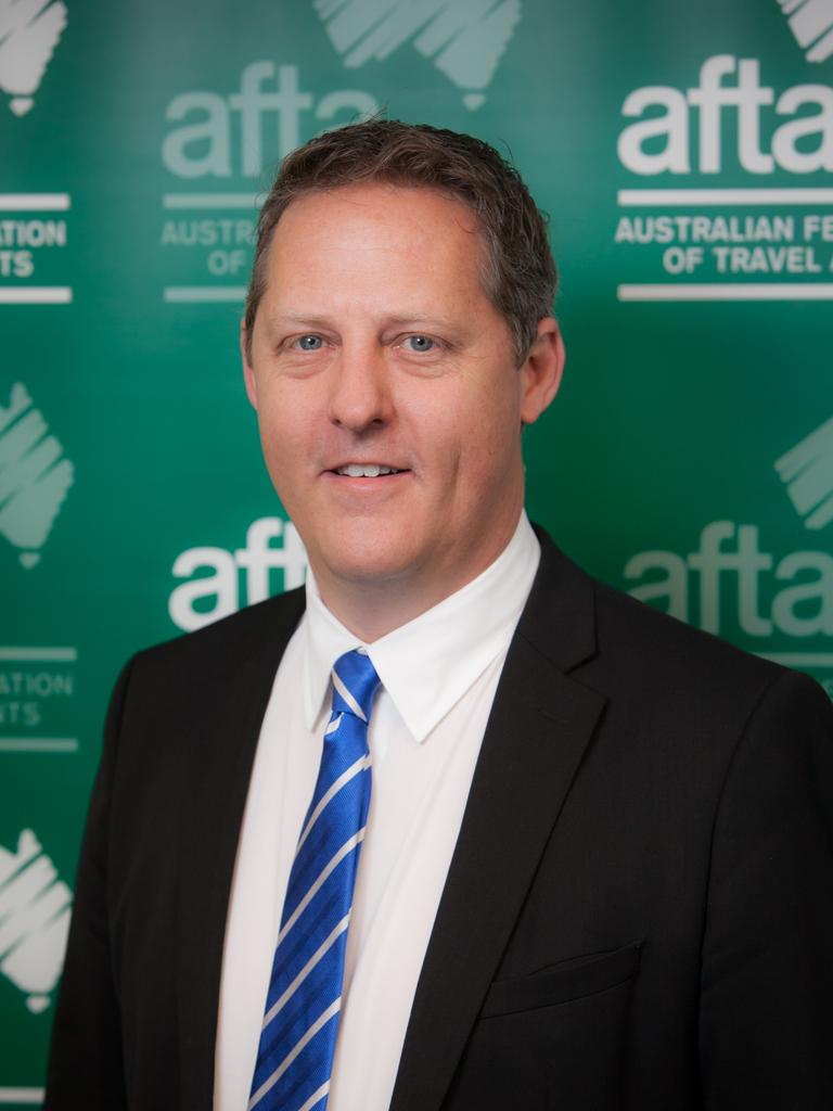 Jayson Westbury is the chief executive of the Australian Federation of Travel Agents. Picture: Supplied