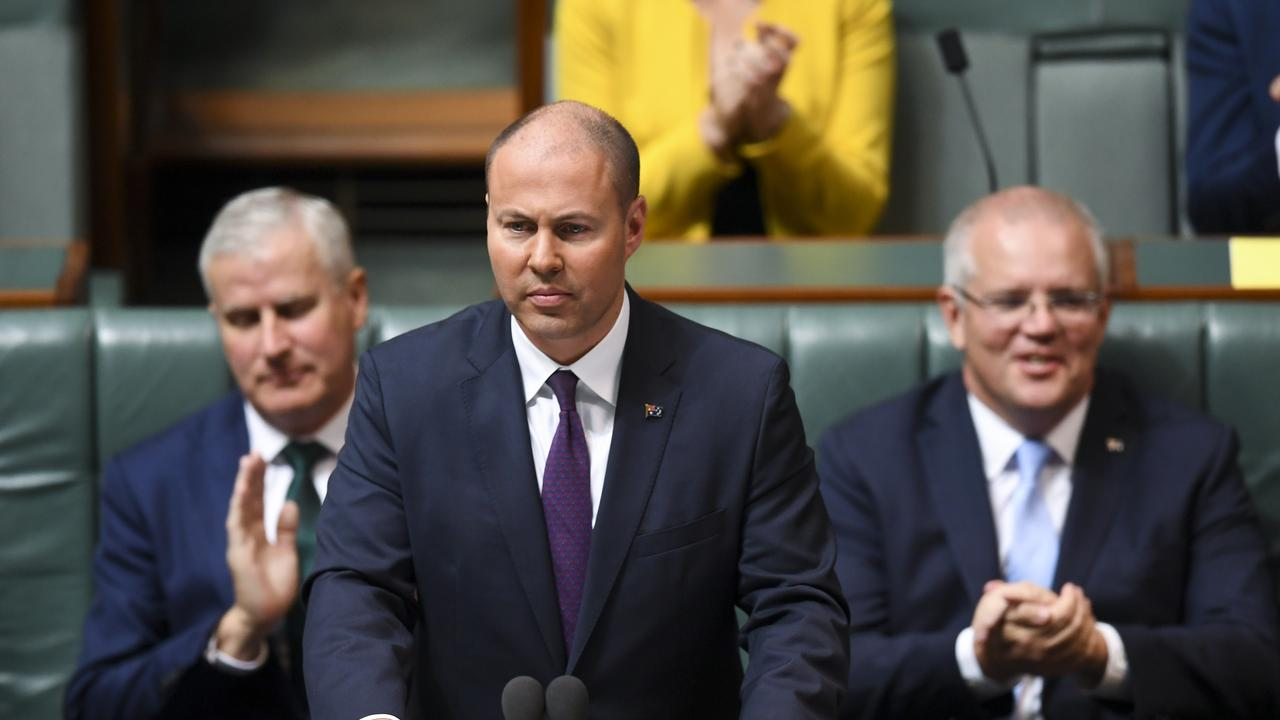Treasurer Josh Frydenberg was hoping to be delivering a Budget surplus today but instead will be updating the parliament on some of the worst economic data in Australian history (AAP Image/Lukas Coch)