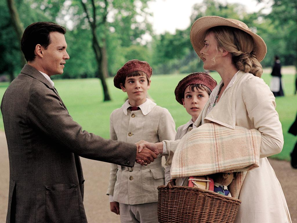 Actors Kate Winslet and Johnny Depp in the 2004 film Finding Neverland. Picture: Supplied