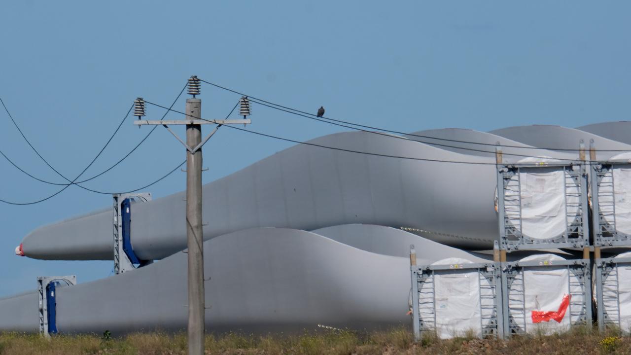 Wind farm parts Picture: Mark Wilson
