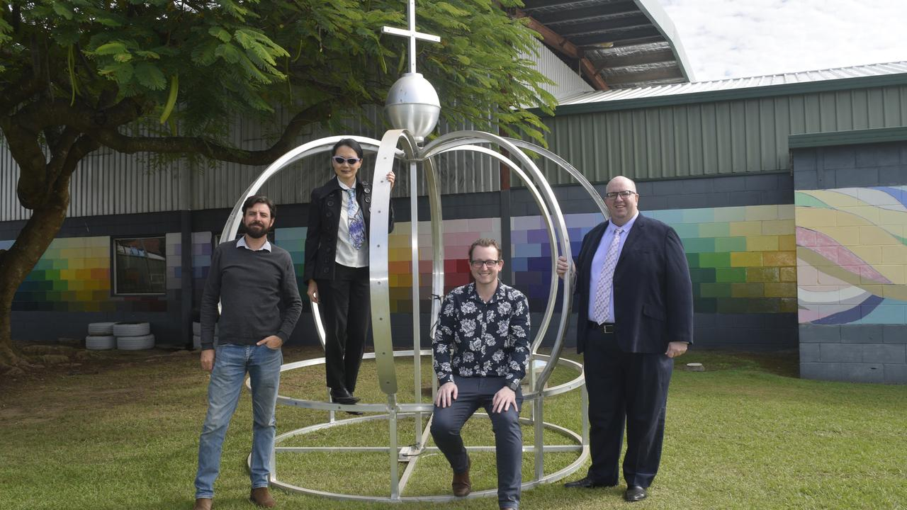 Jacaranda Festival major sponsor Caringa has increased its commitment to this gala ball to $15,000. Pictured from left, Caringa's Glen McClymont, Caringa CEO Rachel Choy, Jacaranda Festival president Nicholas Buckler and festival manager Mark Blackadder.