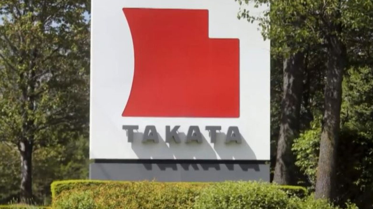 The bags were made by manufacturer Takata.