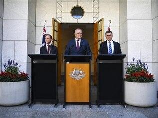 Greg Hunt, Scott Morrison, Brendan Murphy