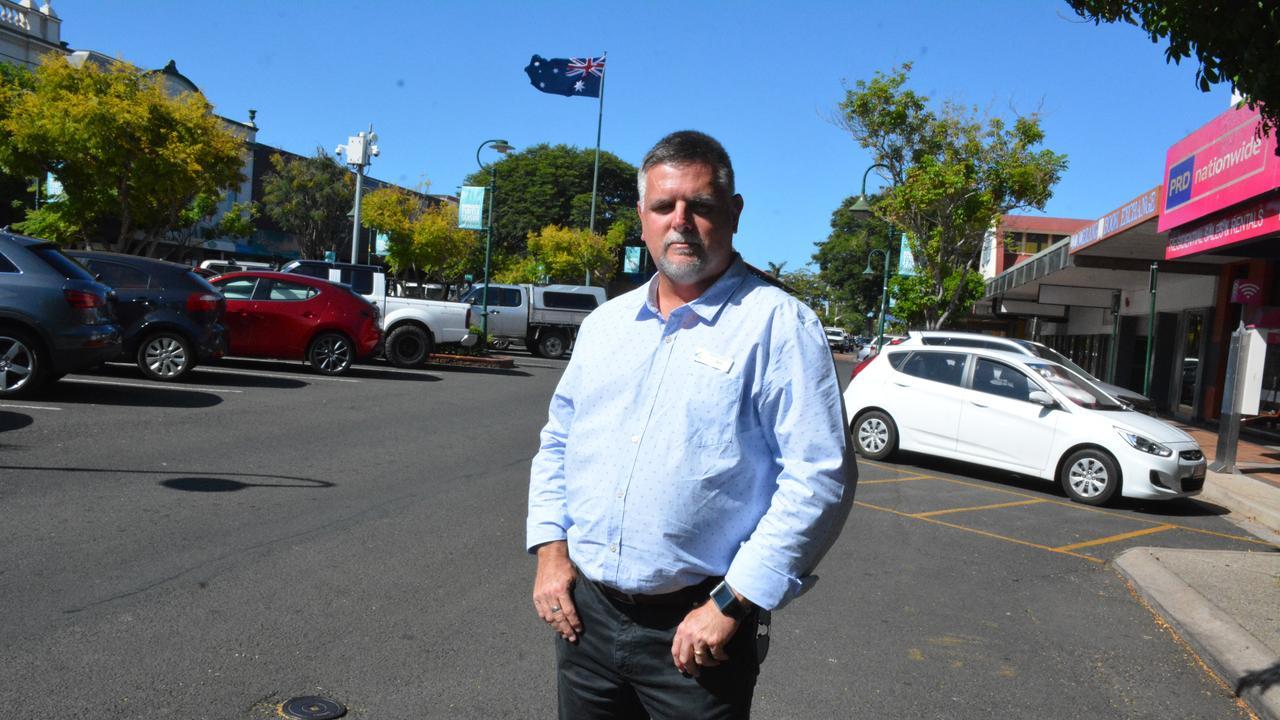 Bundaberg Chamber of Commerce president Tim Sayre, in Bourbong St. Picture: Chris Burns.
