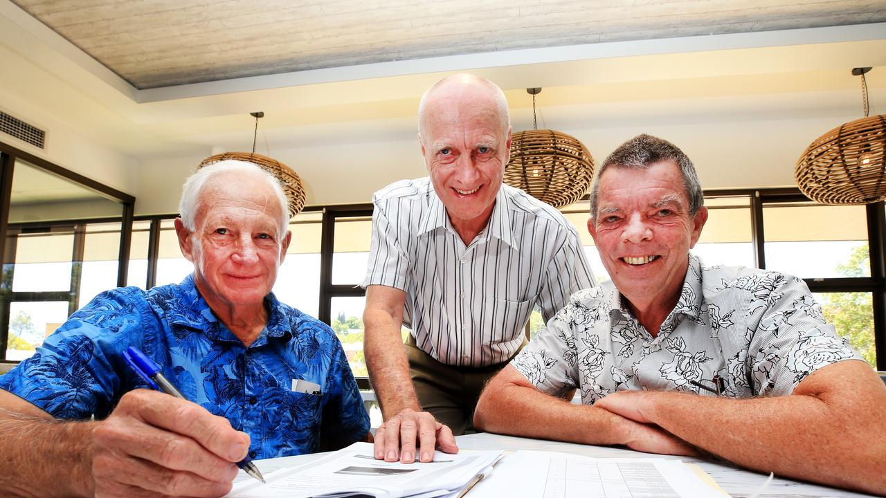 Former Murwillumbah High School Students Ken Burger, Paul McDonald and Gary Watson are organising a 50th anniversary schoo reunion. Photo: Scott Powick