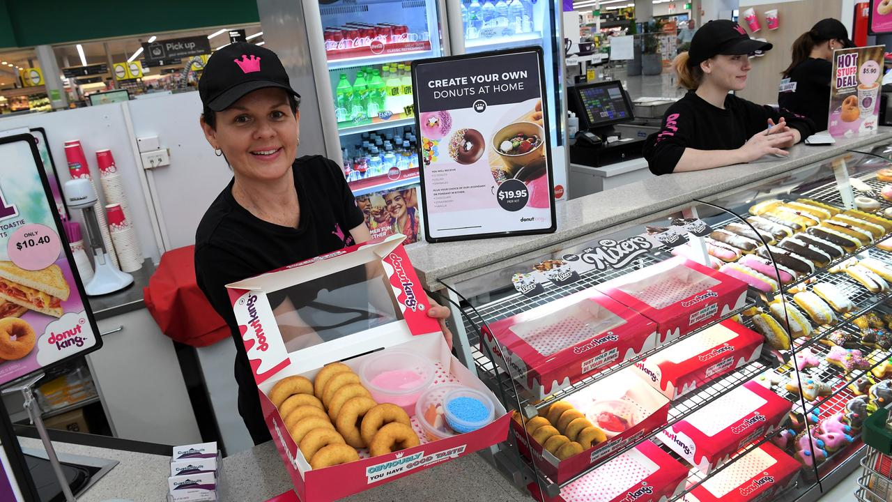 GO NUTS: Donut King franchisee Joanne Gee with the isolation packs for families to decorate donuts at home. Picture: Mike Knott.
