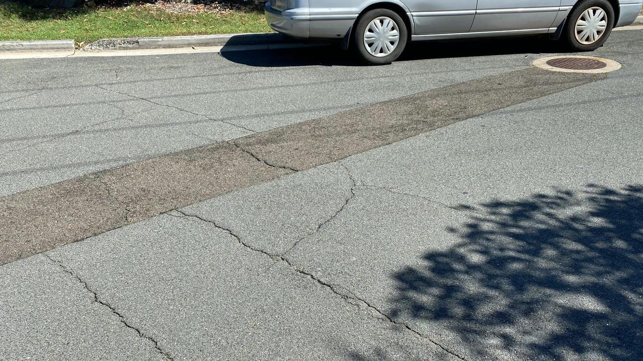 These cracks in the road at Sunrise Beach have locals concerned about using the street as a major detour for traffic.