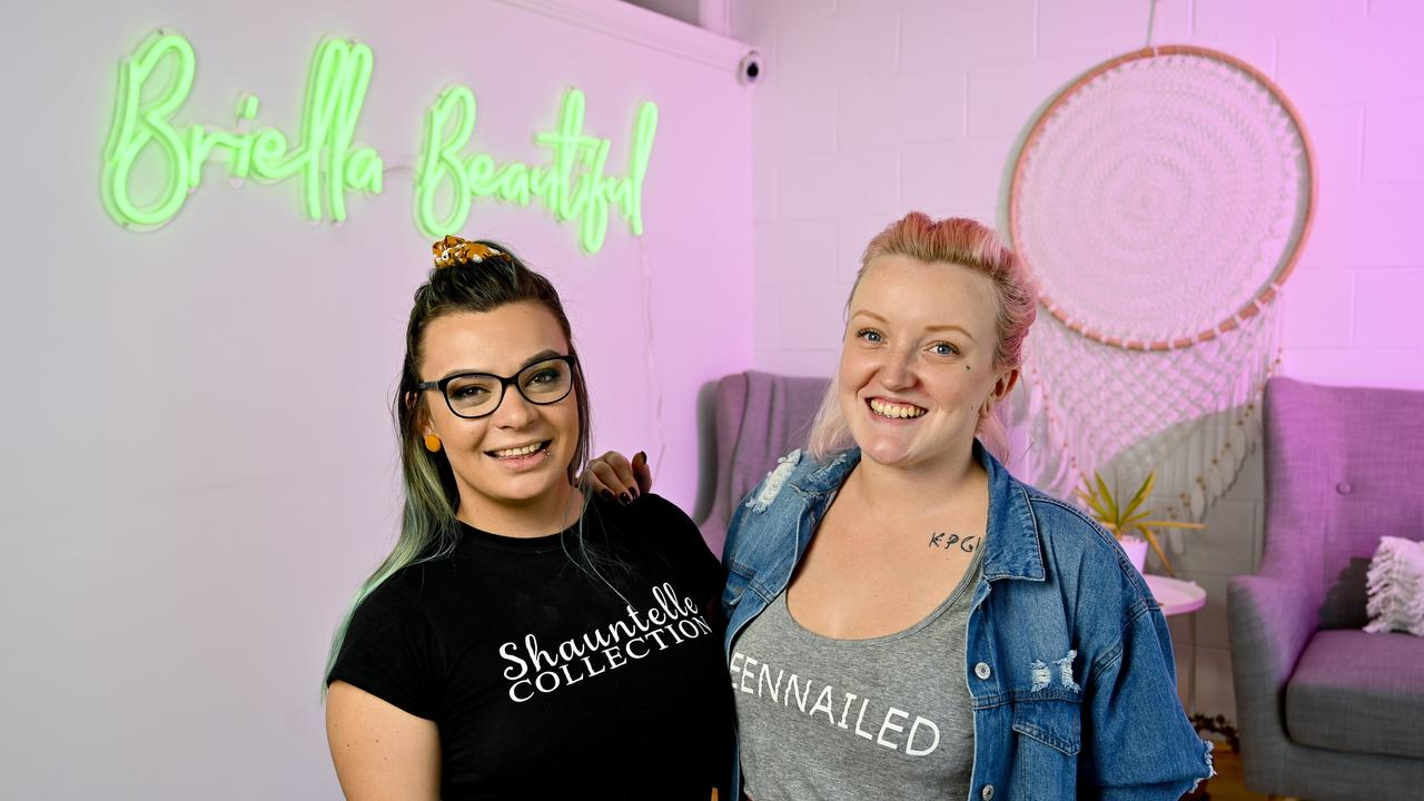 Natasha Ball and Sarah Landy from Briella Beautiful in Ipswich. The beauty salon is set to reopen after the COVID-19 shutdown in a new location.