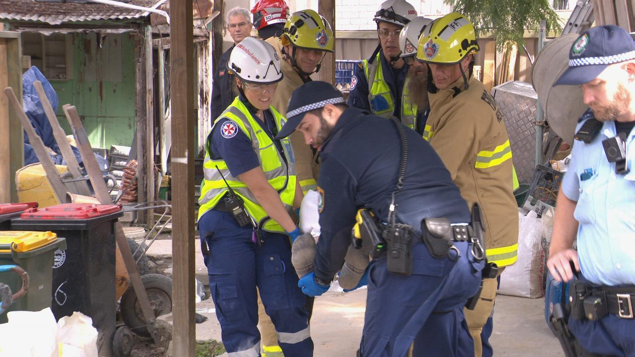 One builder is suffering serious injuries. Picture: OnScene