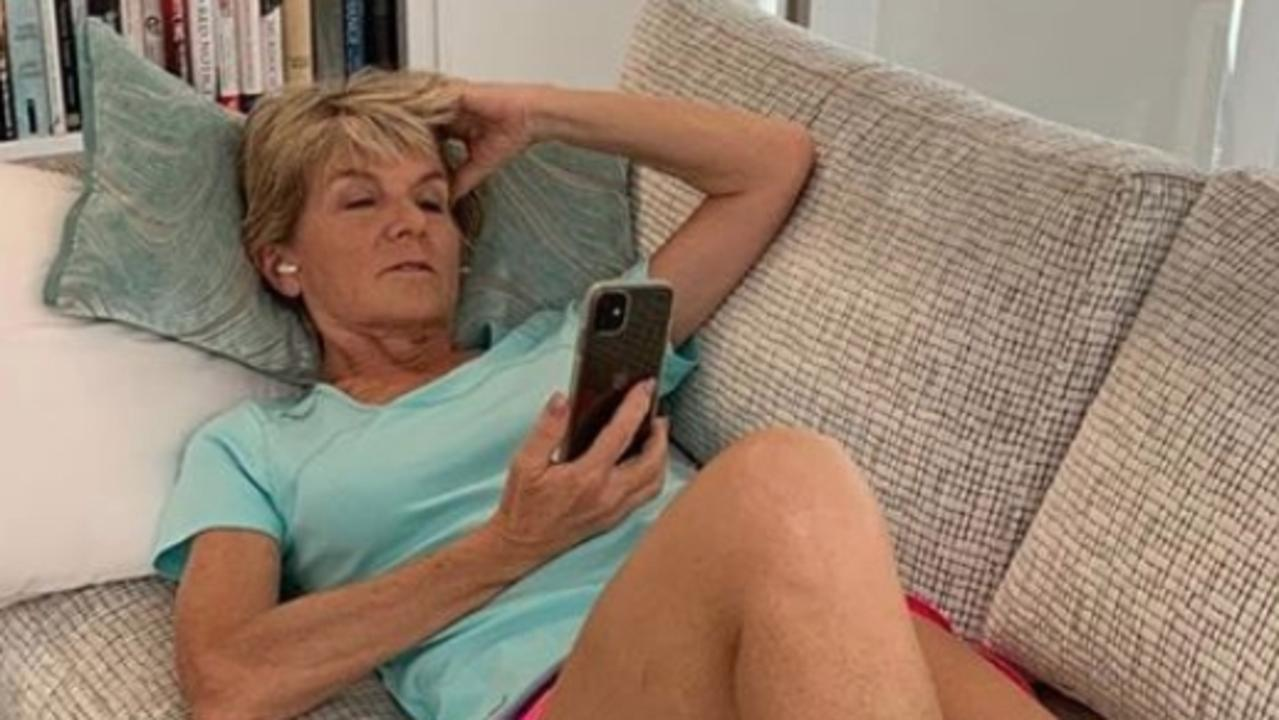 Julie Bishop has been working from home during lockdown. Picture: Instagram