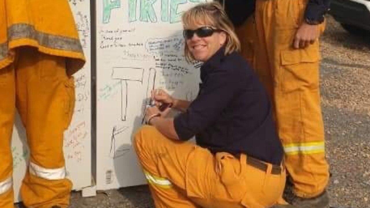 Broadwater Rural Fire Brigade firefighter Sally Rowan.
