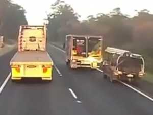 Dashcam: Truck rams ute in road rage incident