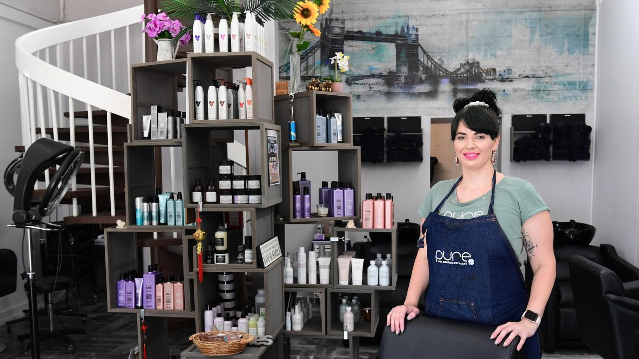 CHARM AND CHARACTER: Salon owner Kayla Tasker said she loves everything about the antique building on Targo St. Picture: Mike Knott.