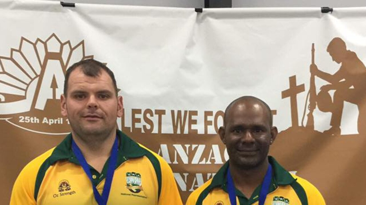 Powerlifters L-R Shane Atta-Singh and Vidu Eb at the APL/ IPL Anzac international last year.