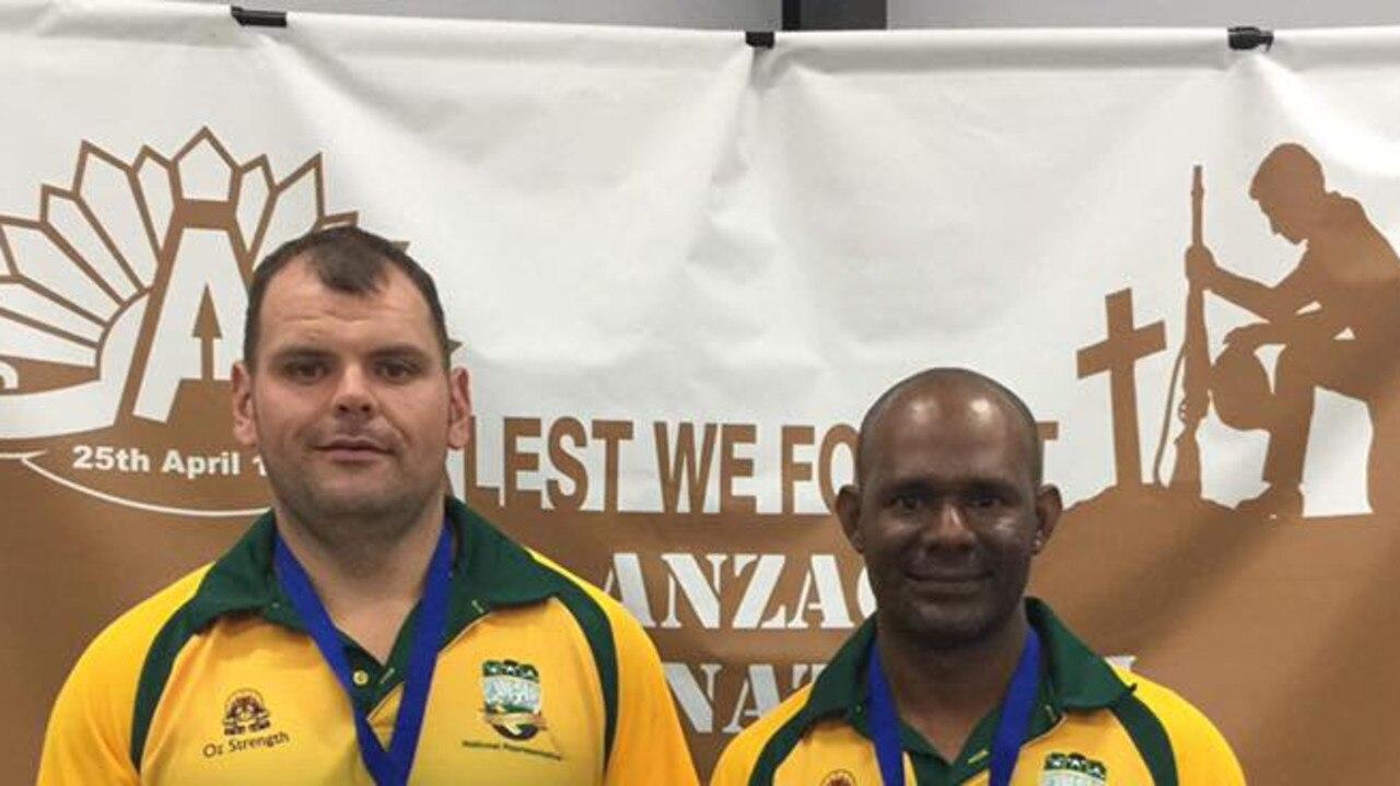 Powerlifters L-R Shane Atta-Singh and Vidu Eb at the APL/ IPL Anzac international last year.