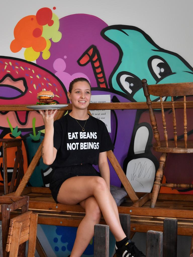 END OF AN ERA: Lily Smith, the manager of MooFree Burgers in Maroochydore, is sad the store will close its doors, but thanks the community for their support. Picture: John McCutcheon