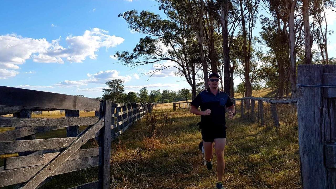 BACKYARD ULTRA: Timothy Walsh testing out the 6.7 kilometre Nanango track, (Picture: Contributed)