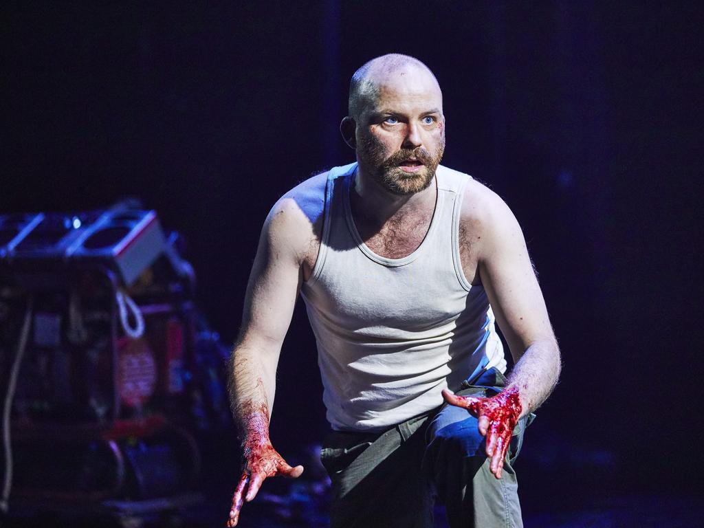 Rory Kinnear as Macbeth on stage in London. Picture: Supplied