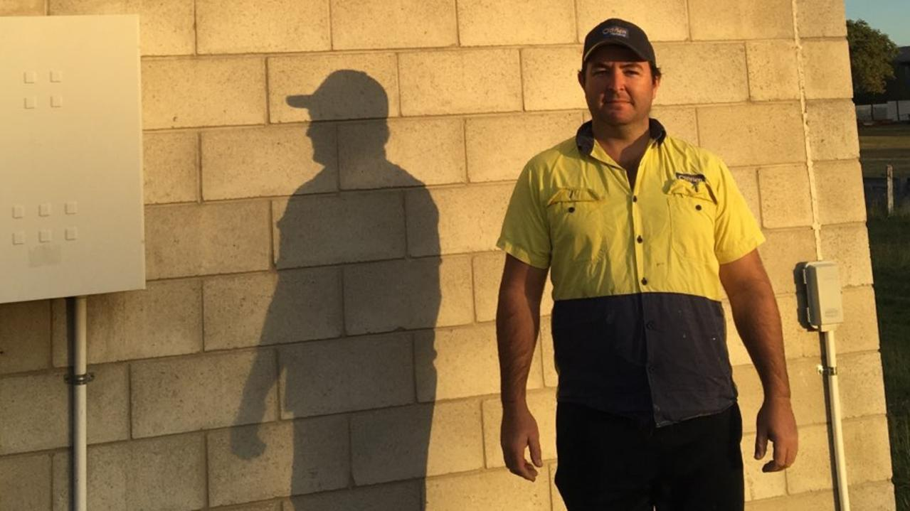 BRIGHT FUTURE: Bundaberg plumbing apprentice Warrick Baczynski hopes to specialise in solar.
