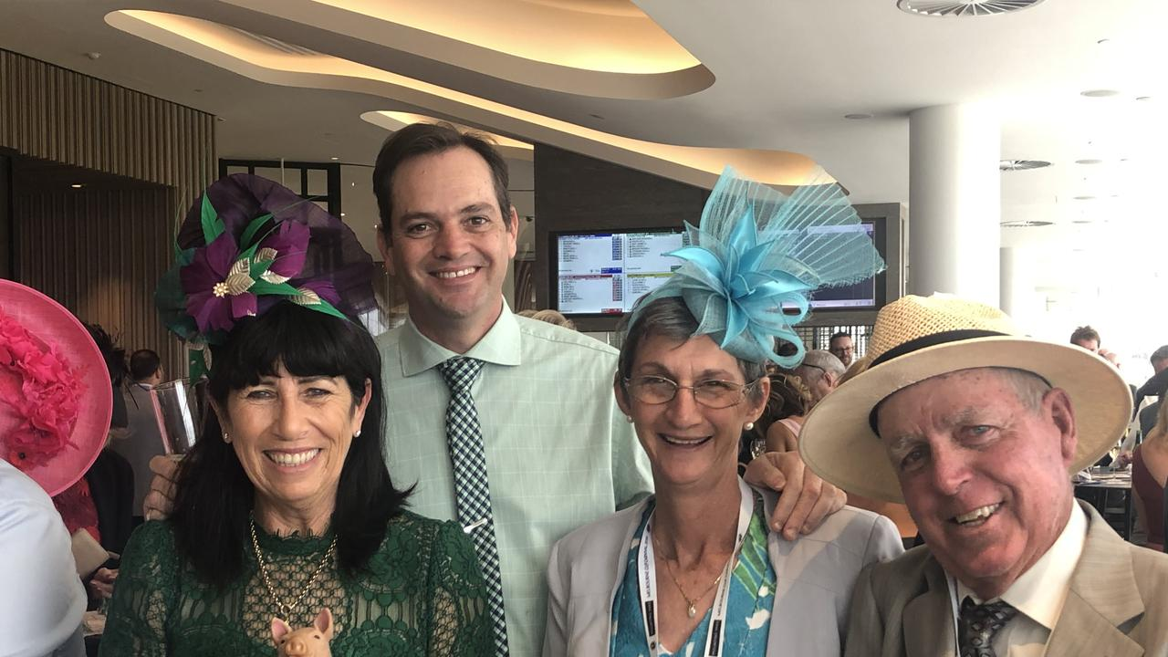 Members of Queensland Cup Colts (from left) Rae Fletcher, Dan Fletcher, Trudy Roberts and Bruce Roberts were at Flemington on Oaks Day last year to watch Russian Camelot finish second in a Listed race.