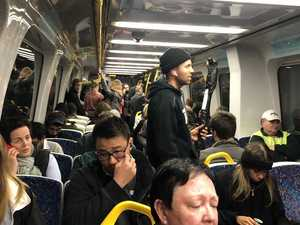 Shocking images of packed trains