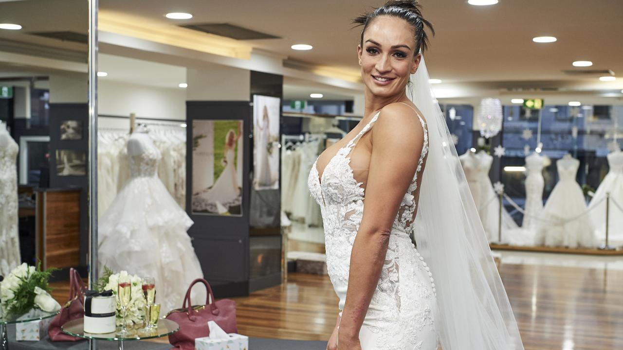 Hayley Vernon from the 2020 series of Married At First Sight. Picture: Channel 9