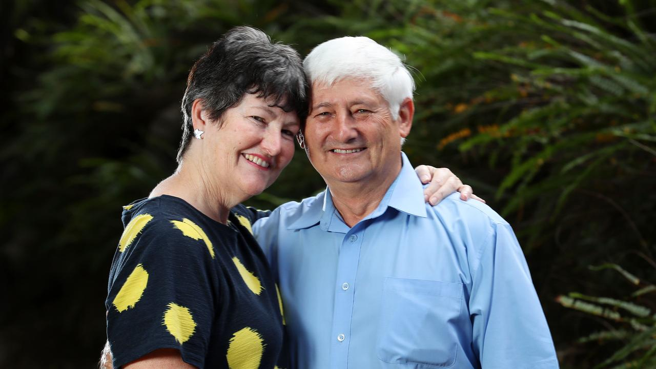 Penny Martinek, 58, and husband Jiri, 63, who were on the Diamond Princess cruise ship and contracted the novel coronavirus, spending about a month in a Japanese hospital. Picture: Liam Kidston
