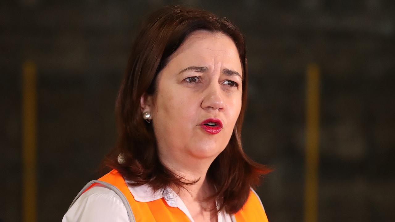 Premier Annastacia Palaszczuk yesterday. Picture: Liam Kidston