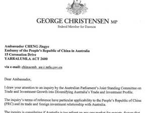 Revealed: Rogue MP's letter to Chinese ambassador