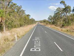 Bruce Highway overtaking lanes going in north of Rocky