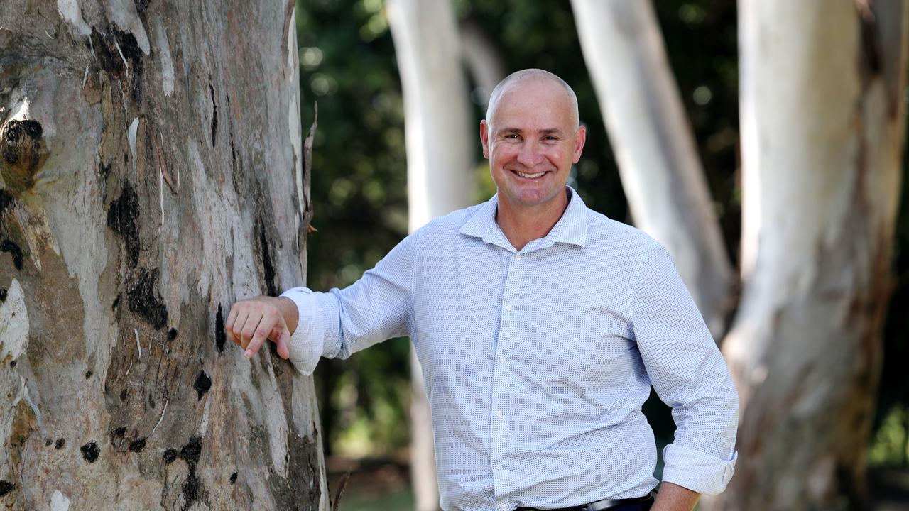 Gladstone MP Glenn Butcher at Lions Park. Pics Tara Croser.