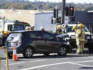 Crash slows traffic at busy CBD intersection