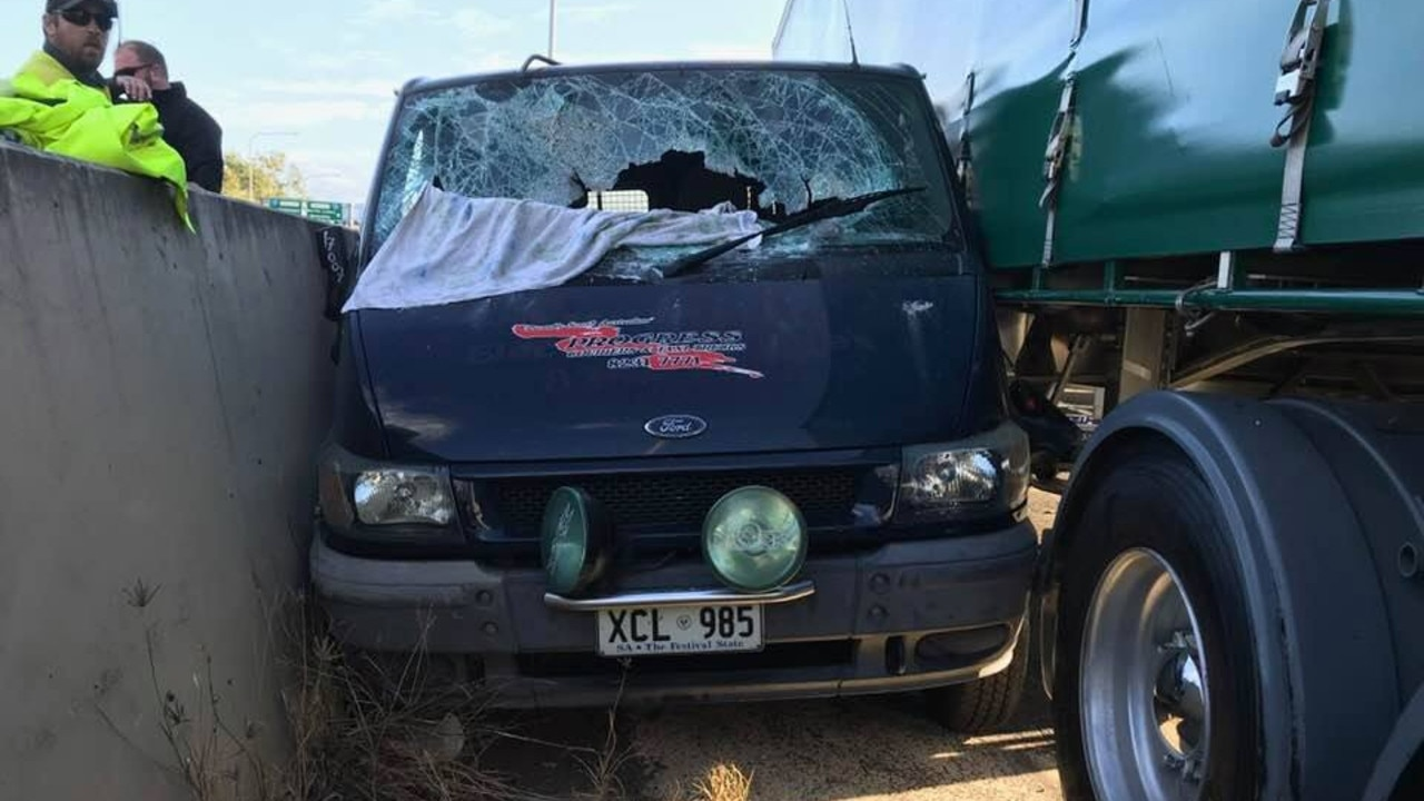 A truck driver has spoken about dramatic scenes during peak hour this morning, when he stopped a van driving erratically, scaring other motorists.