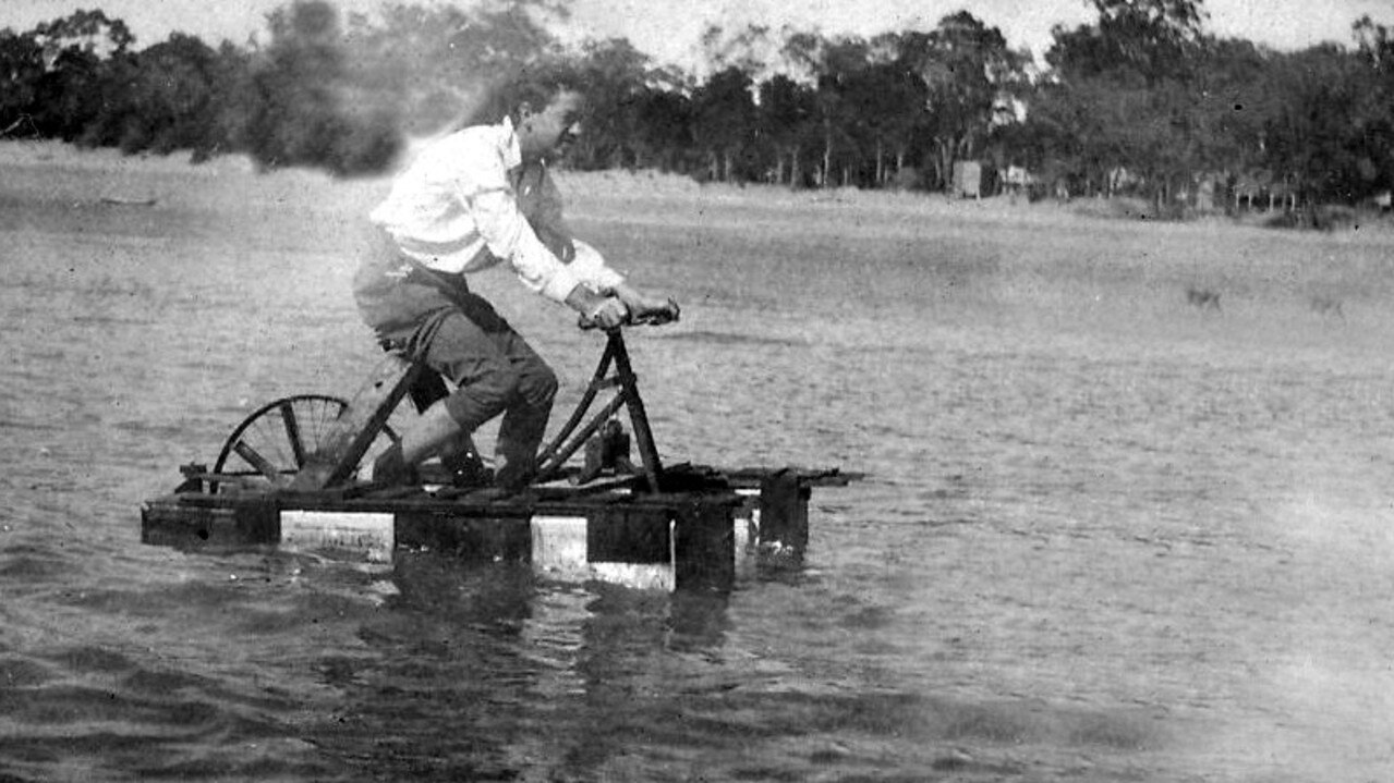 In the 1930s, an intrepid local made a floating bicycle with paddle wheels and spent hours paddling along Scarness beach to the amazement of onlookers.