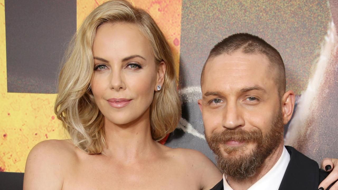 Charlize Theron and Tom Hardy at the Mad Max: Fury Road premiere. Picture: Rex Features/Splash News