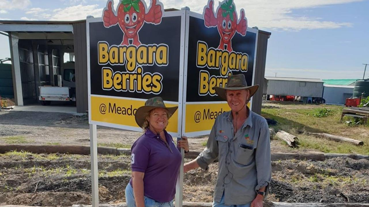 Michael and Debbie Meiers at their new farmgate Bargara Berries at Meadowvale.
